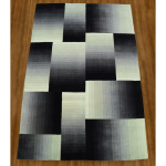 Fine's Gallery - RECT BLACK SILVER WOOL RUG - R7703