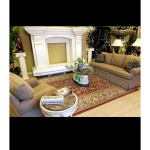 Fine's Gallery - Furniture 2 pc Brown and Rug - F-058