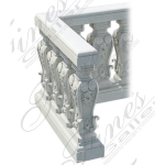 Fine's Gallery - Ornate Marble Balustrade - BAL-075