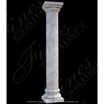 Fine's Gallery - Fluted White Marble Column - MCOL-161