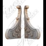 Fine's Gallery - Botticino Marble Corbels - MCOR-004
