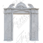 Fine's Gallery - Classical White Marble Entranc - MD-157