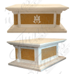 Fine's Gallery - Cream and Yellow Marble Church Altar - MCH-010