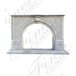 Fine's Gallery - White Archway Marble Fireplace - MFP-549