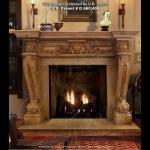 Fine's Gallery - Honey Tan Marble Fireplace - MFP-333