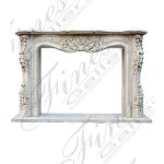 Fine's Gallery - Bianco Perlino Marble Fireplace - MFP-1333