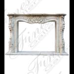 Fine's Gallery - Bianco Perlino Marble Fireplace - MFP-1333