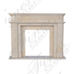 Fine's Gallery - Cream Marble Fireplace Surround - MFP-1562