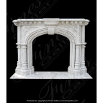 Fine's Gallery - Majestic White Marble Fireplace - MFP-817