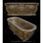 Fine's Gallery - Beautiful Brown Marble Tub - KB-044