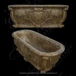 Fine's Gallery - Beautiful Brown Marble Tub - KB-044