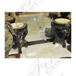 Fine's Gallery - Bronze and Onyx Vanity Pair - KB-176