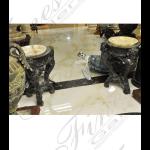 Fine's Gallery - Bronze and Onyx Vanity Pair - KB-176