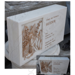 Fine's Gallery - Gold Leaf Marble Memorial - MEM-434