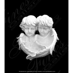 Fine's Gallery - Cherub Twins Marble Wall Statue - MS-635