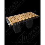 Fine's Gallery - Black/Tan Marble Weave Table - MT-103