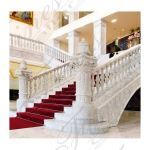 Fine's Gallery - Custom Carrara Staircase - BAL-055