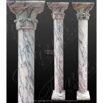 Fine's Gallery - Arabascato Marble Column Pair - MCOL-351