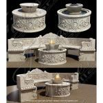 Fine's Gallery - Marble Fire Pit and Fountain - MFPT-013