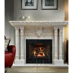 Fine's Gallery - Antique White Marble Fireplace - MFP-1305