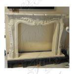 Fine's Gallery - French Limestone Mantel - MFP-1712