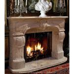 Fine's Gallery - Antique Gray Marble Fireplace - MFP-422