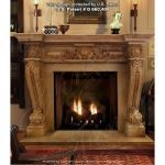 Fine's Gallery - Honey Brown Marble Fireplace - MFP-333
