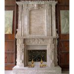 Fine's Gallery - Antique Calcium Marble Over Mantel - MFP-958
