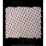 Fine's Gallery - Light Red Cubic Marble Mosaics - MMT-036