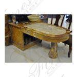 Fine's Gallery - Custom Onyx Office Table - MT-261