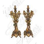 Fine's Gallery - Bronze Cherubs Candelabra Pair - BC-101