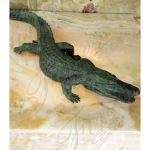 Fine's Gallery - Large Alligator Bronze Fountain - BF-528