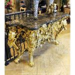 Fine's Gallery - 18K Gold Leaf Bronze Table - BT-172