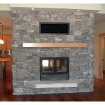 Acucraft Fireplace Systems - The Chalet See-Through Wood-Burning Fireplace
