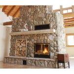 Acucraft Fireplace Systems - The Great Room See-Through Wood-Burning Fireplace