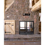 Acucraft Fireplace Systems - The Lodge See-Through Wood-Burning Fireplace