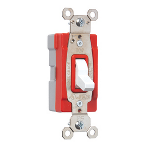 Pass & Seymour - PlugTail® Specification Grade Illuminated 20 amp Toggle Switch, White - PT20AC1WSL