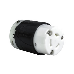 Pass & Seymour - 20 Amp NEMA Connector L2420 - Black Back, White Front Body - L3720C