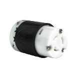 Pass & Seymour - 20 Amp NEMA Connector L520 - Black Back, White Front Body - L520C