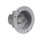 Pass & Seymour - 20 Amp NEMA L1920 Outlet, Gray - L1920FO