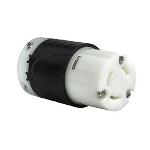 Pass & Seymour - 30 Amp NEMA L1330 Connector - Black Back, White Front Body - L1330C