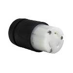 Pass & Seymour - Heavy-Duty Ground Continuity Monitoring (GCM) Connector, Black & White - L530CGCM