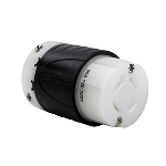Pass & Seymour - Heavy-Duty Ground Continuity Monitoring (GCM) Connector, Black & White - L1420CGCM