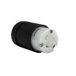 Pass & Seymour - Heavy-Duty Ground Continuity Monitoring (GCM) Connector, Black & White - L620CGCM