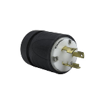 Pass & Seymour - Heavy-Duty Ground Continuity Monitoring (GCM) Plug, Black & White - L530PGCM