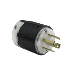 Pass & Seymour - Heavy-Duty Ground Continuity Monitoring (GCM) Plug, Black & White - L730PGCM
