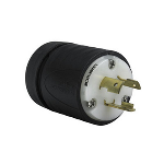 Pass & Seymour - Heavy-Duty Ground Continuity Monitoring (GCM) Plug, Black & White - L520PGCM