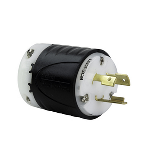 Pass & Seymour - Heavy-Duty Ground Continuity Monitoring (GCM) Plug, Black & White - L620PGCM