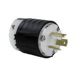 Pass & Seymour - Heavy-Duty Ground Continuity Monitoring (GCM) Plug, Black & White - L3720PGCM