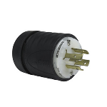 Pass & Seymour - Heavy-Duty Ground Continuity Monitoring (GCM) Plug, Black & White - L720PGCM